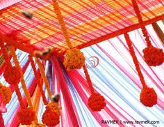 Marigold Flower decor, Floral decor, Rajasthani decor, Lehariya, Weddings in Rajasthan