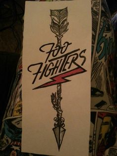 My Foo Fighters tattoo design for my first tattoo in July!