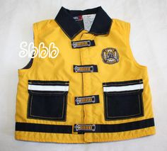 18 Months Baby Q Toddler Boys Yellow/Navy Search & Rescue Firemans Vest M Fleece