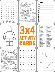 3x4 Activity Cards for Kids (with free printables) | Lisa Moorefield