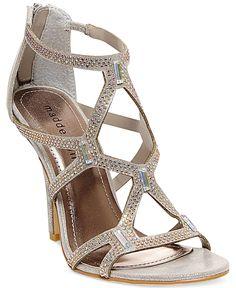 f2df5470eb1 Madden Girl Digitize Caged Rhinestone Dress Sandals   Reviews - Sandals    Flip Flops - Shoes - Macy s. Silver HeelsSilver ...