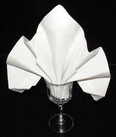 french-themed napkin folding