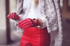 red+white/fur+leather