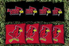 Illinois State Redbirds All Weather Cornhole Replacement Bag Set