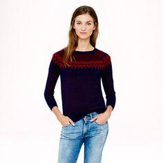 J.Crew Merino Fair Isle sweater