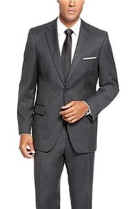 boss hugo boss pasolinimovie virgin wool suit a solid dark grey suit - Costume Homme 3 Pieces Mariage