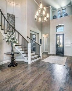 Top 80 Best Foyer Ideas - Unique Home Entryway Designs Foyer Staircase, Entryway Stairs, House Stairs, Entry Foyer, Staircase Design, Entryway Decor, Foyer Bench, Grand Entryway, Staircase Ideas