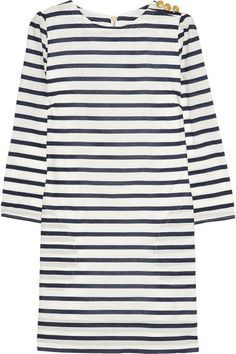 Aubin & Wills Black Swarthmore Striped CottonPoplin Mini Dress