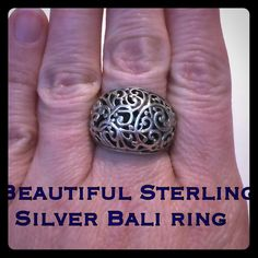 Vintage Sterling Silver Bali Dome Ring Size 7.25 This is an amazing Sterling Silver Vintage Bali Dome Ring. Size 7.25. Marked 925 SU TH. This ring is in great vintage condition! Love the detail to the dome inside & out! This would be a wonderful piece to add to your vintage sterling collection or give it as a gift to that special Mom that loves & collects vintage jewelry or Bali jewelry! Very affordable price! Thanks for looking! I appreciate your interest! Have a blessed day!I ship out same…
