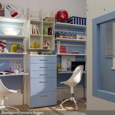 Hellblau im maritimen Kinderzimmer