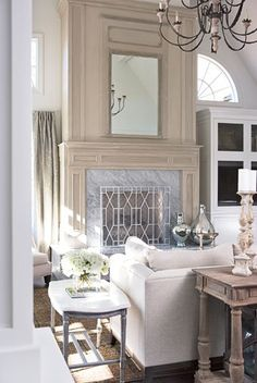 Fireplace mantle is show stopper