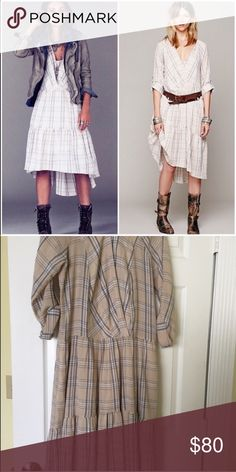 Free People Plaid Dress Purchased from another Posher and have not worn.  Perfect condition. Free People Dresses