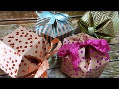 Hexagon Dome Box mit Stampin' Up! DSP Metallic-Glanz - YouTube