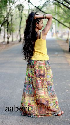 HIPPIE SKIRT, Bohemian PENCIL skirt, fashion, women, clothing, skirt, boho, gypsy, urban, summer skirt, ethnic, chiffon skirt