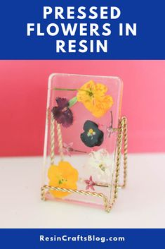 Preserve pressed flowers in EasyCast Clear Casting Epoxy for a beautiful way to display them in your home. Diy Resin Projects, Diy Resin Crafts, Diy Crafts To Sell, Diy Crafts For Adults, Resin Flowers, Dried Flowers, Resin Tutorial, Flower Crafts, Craft Flowers
