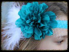 The Classy Claire Headband- VINTAGE AQUA sparkleinpink.com Custom Headbands, Vintage Headbands, Girly Girl, Claire, Girl Fashion, Pink, Aqua, Hair Accessories, Women's Work Fashion