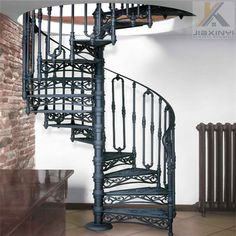 10 Elegant Metal Stairs for Two-Storey Houses : Metal Stairs that save time, maintenance and eliminate custom fabrication. In stock, ready to ship. metal stairs, steps, metal put it on platforms and portable stairs. Staircase Outdoor, Staircase Handrail, Iron Staircase, Metal Stairs, Stair Risers, Spiral Staircase, Spiral Stairs Design, Home Stairs Design, House Design