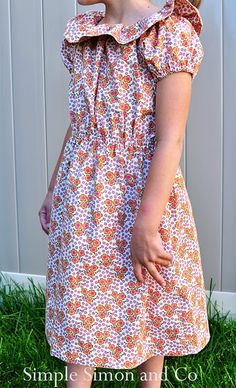 "The ""Love Boat"" Dress...aka The Peasant Dress with Ruffle tutorial"