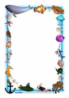 Ocean-themed A4 page borders (SB3881) - SparkleBox