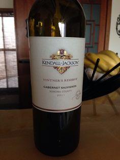 Kendall Jackson Cabernet Sauvignon Sonoma County 2011 vintners reserve Kendall Jackson, Wine Cheese, Sonoma County, Cabernet Sauvignon, Wines