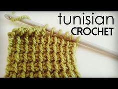 How to crochet Tunisian Simple Stitch - Tunisian Crochet - YouTube