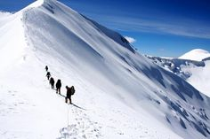 Trek around the worlds top 3 treks which can be the best experience you can have. Adventure Activities, Adventure Tours, Green Valley, Snow Mountain, Life Goals, Trekking, Mount Everest, Around The Worlds, Travel