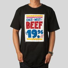 East West Beef Tee in Black