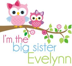 Owl Big Sister Shirt  Big Sister pregnancy by weepersonalizeshirts