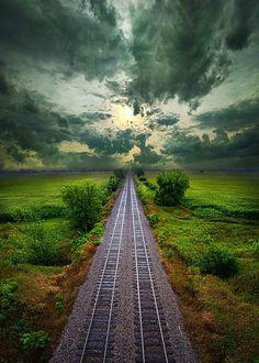 "coiour-my-world: """"Onward"" ~ Wisconsin Horizons By phil-koch.artistwebsites.com """