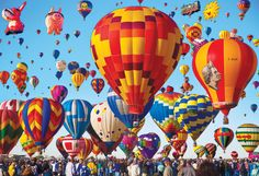 The world's largest hot air balloon event, the Albuquerque International Balloon Fiesta, is currently underway in New Mexico. Description from rsvlts.com. I searched for this on bing.com/images