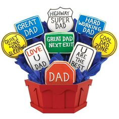 Father's Day Cookie Bouquet. Such a good idea!