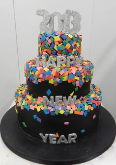 Happy 2013 confetti cake