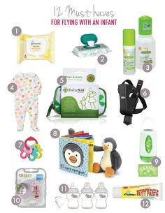 Must-haves for flying with an infant! #travel #baby