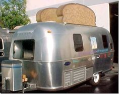 airstream toaster LOL We should do this to our Camper van… Airstream Campers, Retro Campers, Cool Campers, Vintage Airstream, Vintage Caravans, Vintage Travel Trailers, Vintage Campers, Airstream Remodel, Happy Campers