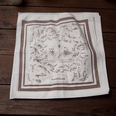 I bought this cute hankie from Wood & Faulk, Portland brand visiting NYC at pop up flea