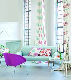If you find it difficult to make a decision about the colour or pattern for fabric, take your cues from a great piece of fabric that catches your eye