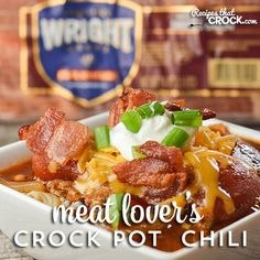 Meat Lover's Crock Pot Chili Recipe