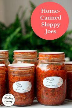 Home-canned Sloppy Joes - Healthy Canning Canning Soup Recipes, Pressure Canning Recipes, Canning Tips, Home Canning, Pressure Cooking, Sloppy Joe Sauce Canning Recipe, Canned Meat, Canned Food Storage, Canning Food Preservation