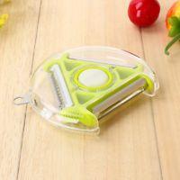 Vegetable Fruit Rotary Peeler Cutter Slicer Chopper Kitchen Stainless Steel New