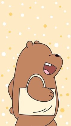 We Bare Bears Uploaded Naty On We Heart It with regard to We Bare Bears Grizz Wallpaper - All Cartoon Wallpapers