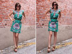 I'm on the hunt for a dress like this for summer. And of course the wedges.