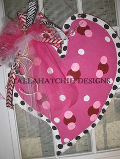 Valentine Heart Burlap Door Hanger Burlap By Tallahatchiedesigns 30 00 Valentine Wreath Valentine Decorations