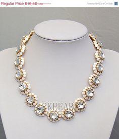 bubble necklacebeadwork necklaceBeaded Jewelrybib by Arkpearl, $17.55