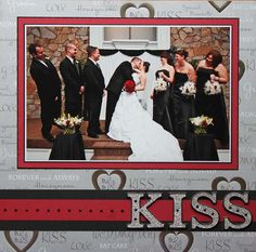 "the ""KISS"" wedding layout by Dramaqueen3"
