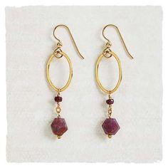 Ruby Rings Earrings