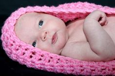 Fondant CROCHET BABY BOWL COCOON FOR BABY - PHOTO PROP
