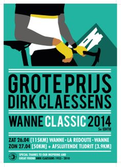 Poster Grote Prijs Dirk Claessens #cycling #illustration #poster #graphic
