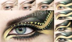 Gold cuper green a-la egyptian makeup tuto