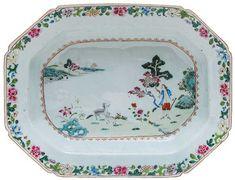 Travessa funda em porcelana Companhia das Índias decora..