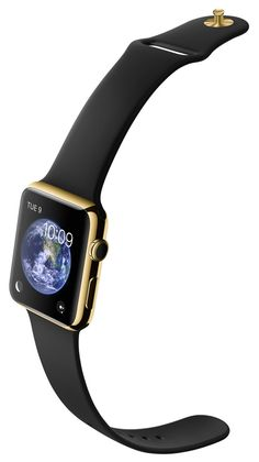 APPLE WATCH EDITION: 42MM 18-KARAT YELLOW GOLD CASE WITH BLACK SPORT BAND